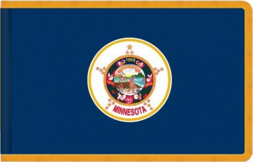 Indoor Minnesota State Flag, Nylon