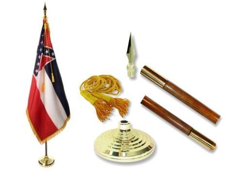 Mississippi Indoor State Flag Set