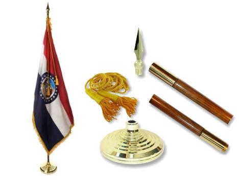 Missouri Indoor State Flag Set
