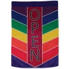 Rainbow Open Chevron Vertical Double-Sided Message Flag