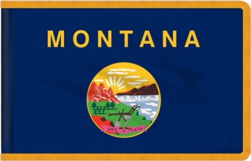 Indoor Montana State Flag, Nylon