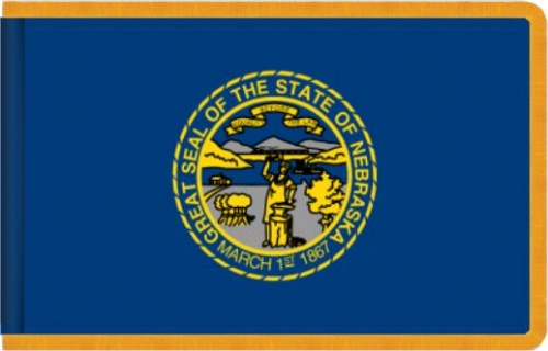 Indoor Nebraska State Flag, Nylon