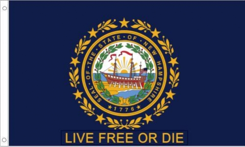 "New Hampshire ""Live Free or Die"" Flag"