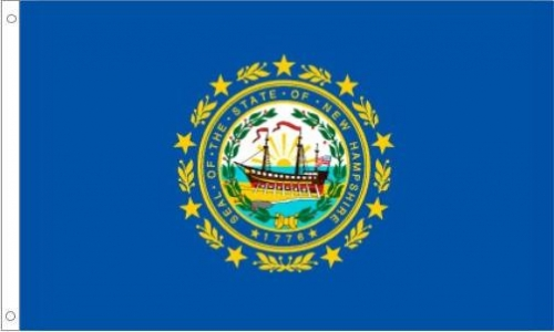 New Hampshire Flag, Nylon
