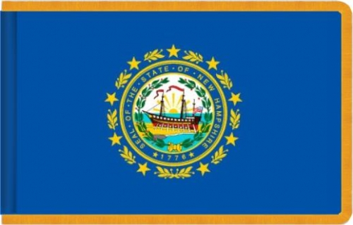 Indoor New Hampshire State Flag, Nylon