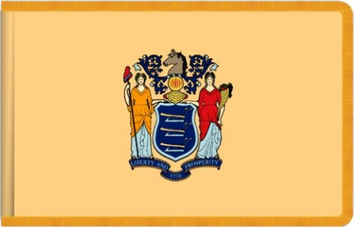Indoor New Jersey State Flag, Nylon