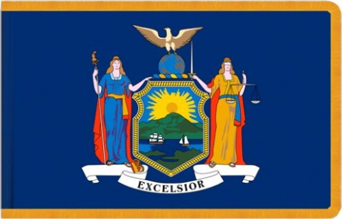 Indoor New York State Flag, Nylon