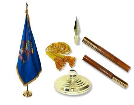 North Dakota Indoor State Flag Set