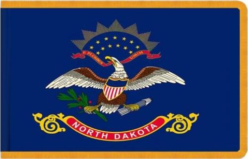 Indoor North Dakota State Flag, Nylon