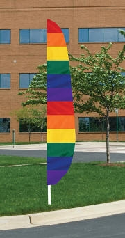 Rainbow 1  Nylon Blade Flag