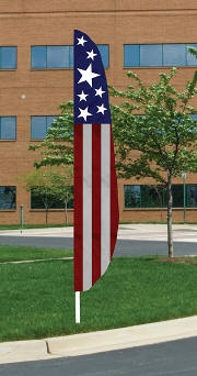 Stars & Stripes Nylon Blade Feather Flag