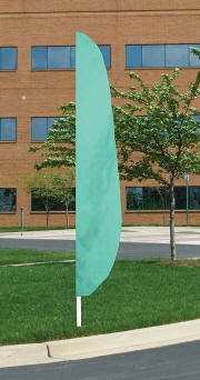 Aqua Nylon Blade Feather Flag