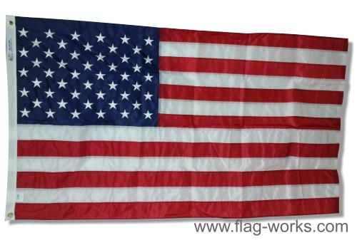 "Nylon American Flag, Complete Flag Lock-Stitched ""Best Sellers"""