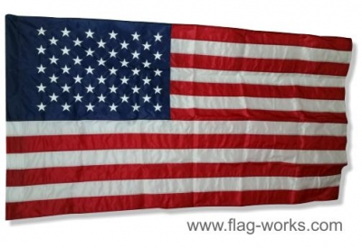 Nylon American Flag with Pole Sleeve, Complete Flag Lock-Stitched