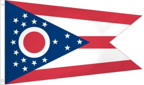 Ohio State Flag, Polyester