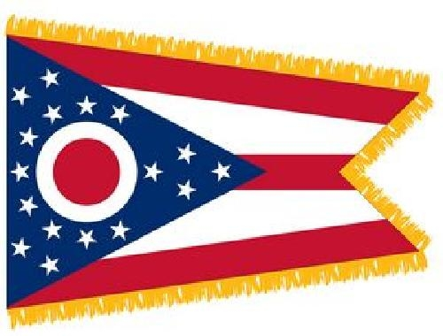 Indoor Ohio State Flag, Nylon