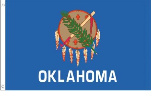 Indoor Oklahoma State Flag, Nylon