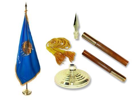 Oklahoma Indoor State Flag Set