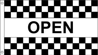 Open B&W Checkered