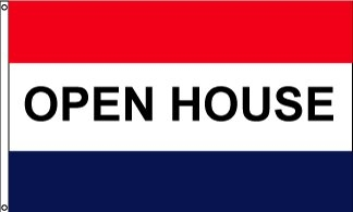 Open House Horizontal Message Flag