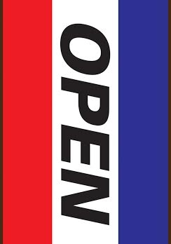 RWB Open Vertical Double-Sided Message Flag