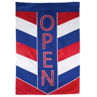 Patriotic Open Chevron Vertical Double-Sided Message Flag