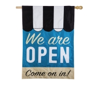 We Are Open Double-Sided Message Flag