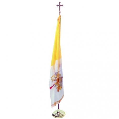 Papal Indoor Flag with Pole Hem and Fringe