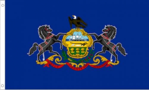 Pennsylvania Flag, Polyester