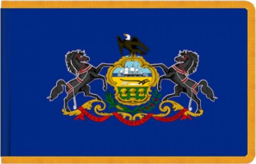 Indoor Pennsylvania State Flag, Nylon