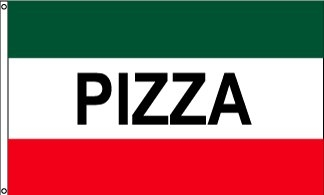 Pizza Horizontal Message Flag