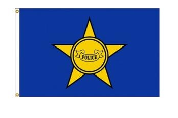 3' x 5' Police Department Nylon Flag