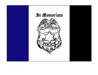 3' x 5' Police Mourning Nylon Flag