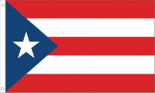 Puerto Rico Flag, Polyester