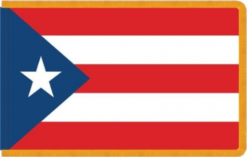 Indoor Puerto Rico Flag, Nylon