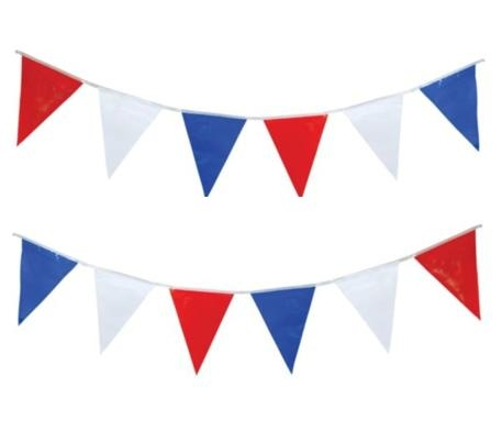 Red, White and Blue Pennants