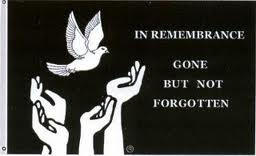 "3' x 5' ""In Rememberance, Gone But Not Forgotten"" Flag"