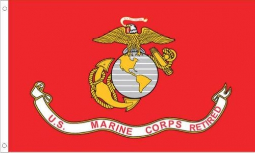 US Marine Corps Retired, H & G, Nylon Flags