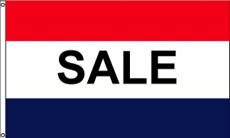 Sale RWB Horizontal Message Flag