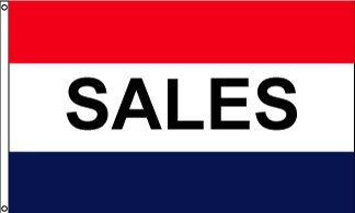 Sales Horizontal Message Flag