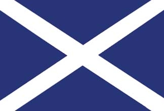 Scotland, Scottish St. Andrew's Cross Flag