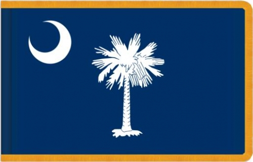 Indoor South Carolina State Flag, Nylon