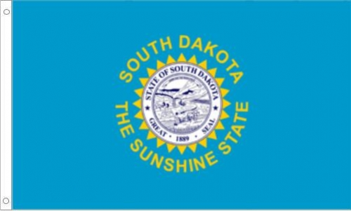South Dakota Flag, Nylon