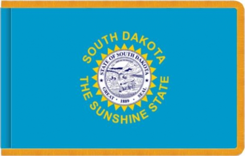 Indoor South Dakota State Flag, Nylon