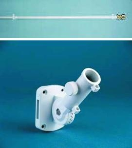 6' White Aluminum Spinning Pole, Ultimate Bracket
