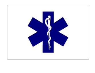 "3' x 5' ""Star of Life"" Nylon Flag"