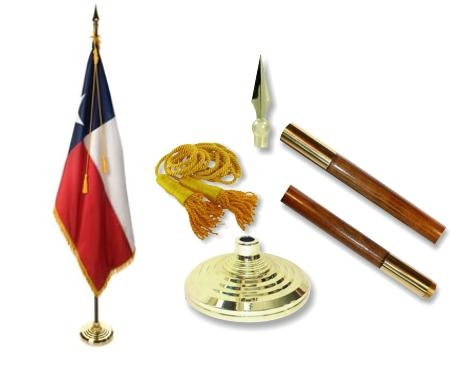 Texas Indoor State Flag Set