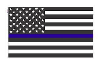 Thin Blue Line American flag version