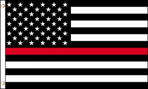 Thin Red Line American flag version