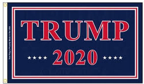 Trump 2020 Blue Flag